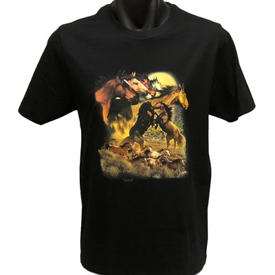 Wild Horses T-Shirt (Regular and Big Sizes)