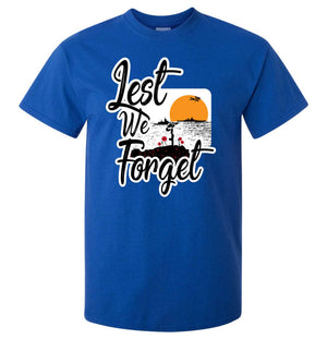 Lest We Forget Logo T-Shirt (Royal Blue, Regular and Big Sizes)