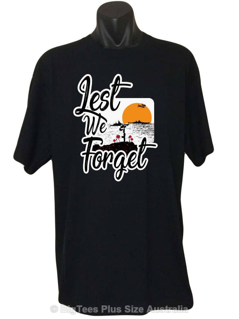Lest We Forget Logo T-Shirt (Regular and Big Sizes)