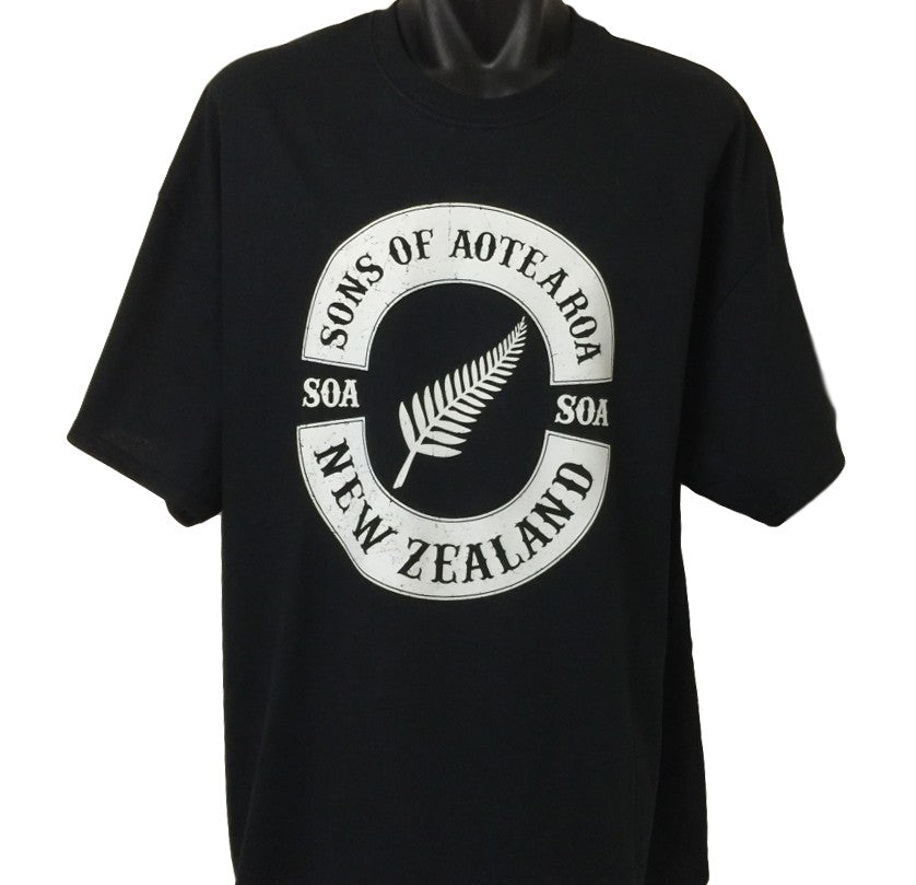 Sons of Aotearoa Silver Fern T-Shirt (Regular and Big Sizes)
