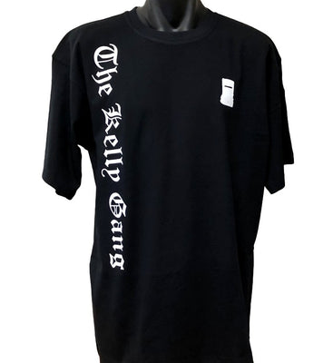 The Kelly Gang Olde Text T-Shirt (Black, Regular and Big Sizes)