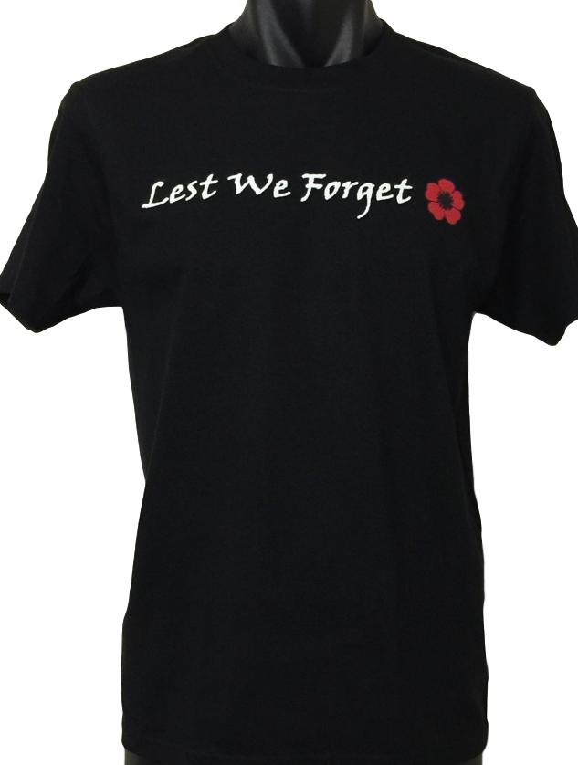Lest We Forget Red Poppy T-Shirt (Regular and Big Sizes)