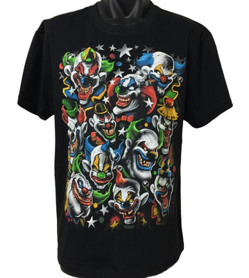 Colourful Evil Clowns T-Shirt (Regular and Big Sizes)