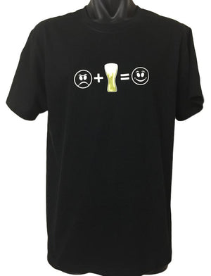 Beer = Smile T-Shirt (Regular and Big Sizes)