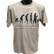 Evolution of Man Big Guy T-Shirt (Grey, Regular and Big Sizes)
