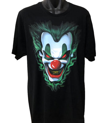 Evil Joker T-Shirt (Black, Regular and Big Sizes)