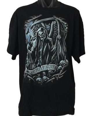 We Meet Again Grim Reaper T-Shirt (Regular and Big Sizes)