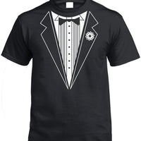 Classic Tuxedo T-Shirt (Black, Regular and Big Mens Sizes)