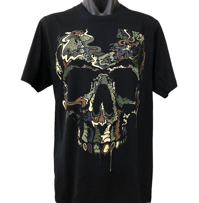 Special Ops Camo Skull T-Shirt (Black, Regular and Big Sizes)