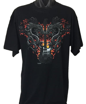 Guitar Dragons T-Shirt (Regular and Big Sizes)