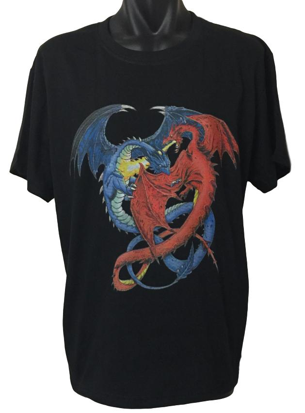 Dragon Duel T-Shirt (Regular and Big Sizes)