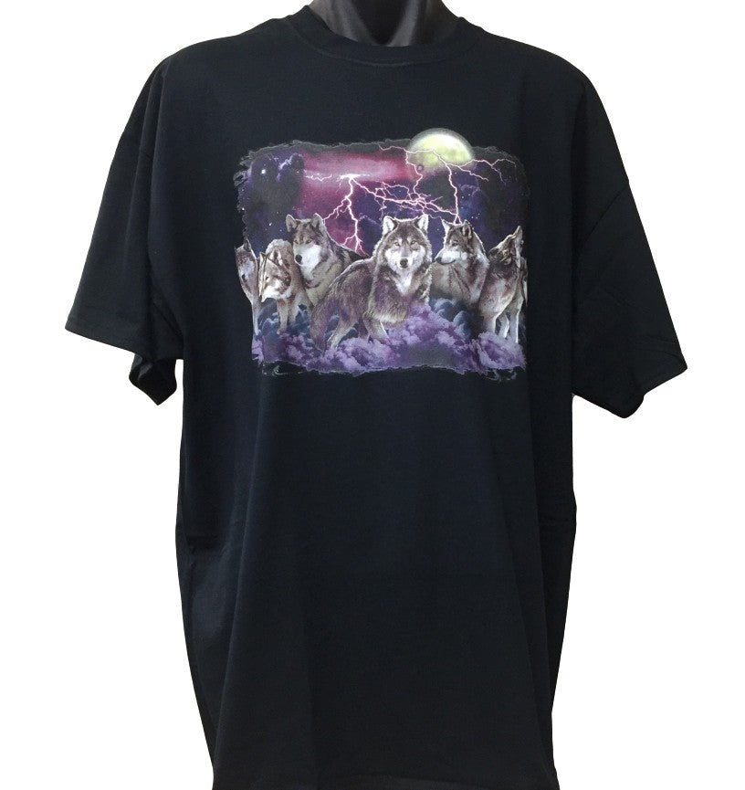 Night Hunt Wolves T-Shirt (Regular and Big Sizes)