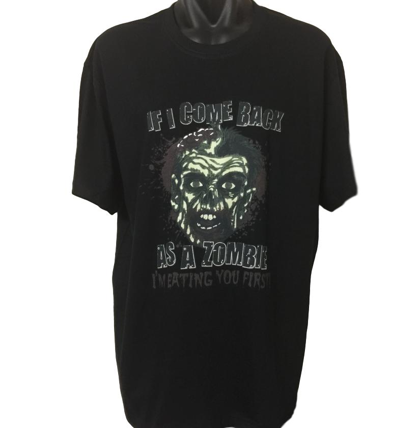 Eating You First Zombie T-Shirt (Regular and Big Sizes)