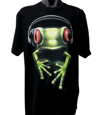 Frog Rock T-Shirt (Black, Regular and Big Sizes)