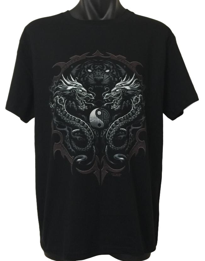 Rising Bengal Tiger Dragon T-Shirt (Regular and Big Sizes)