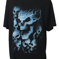 Blue Skulls T-Shirt (Regular and Big Sizes)