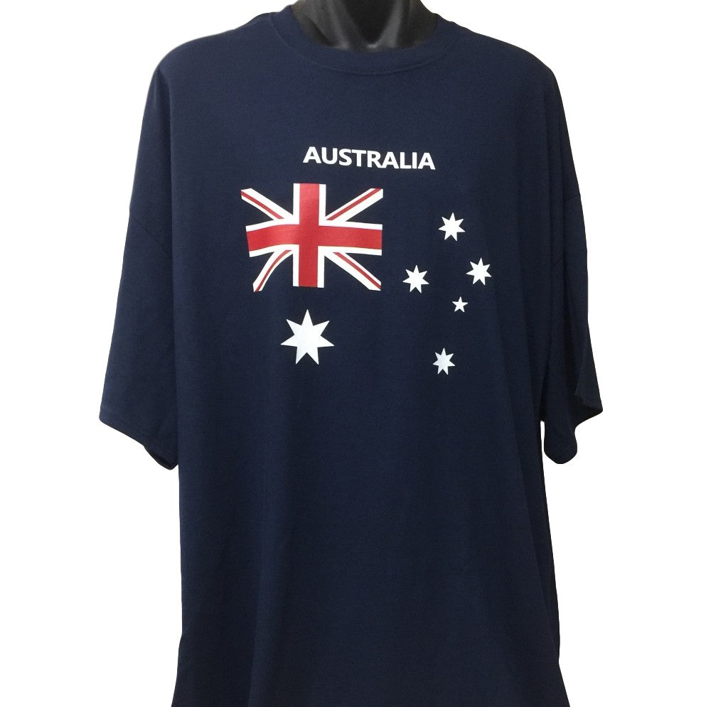 Australian Flag T-Shirt (Navy Blue, Regular and Big Sizes)