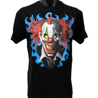 Crazy Evil Clown T-Shirt (Black, Regular and Big Sizes)