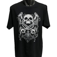 Shut Up & Ride Skull Spades T-Shirt (Front Print)