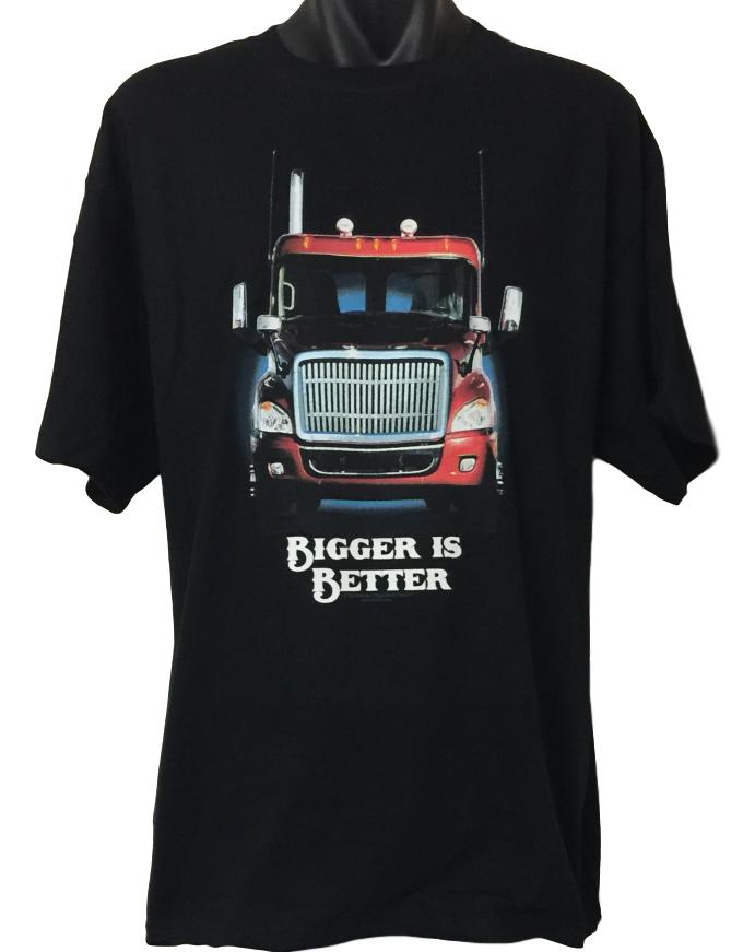 Bigger is Better Trucker T-Shirt (Regular and Big Sizes)