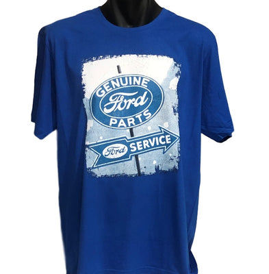 Ford Genuine Parts Vintage Sign T-Shirt (Royal Blue)