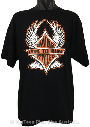 Live To Ride Motorcycles T-Shirt (Regular and Big Sizes)
