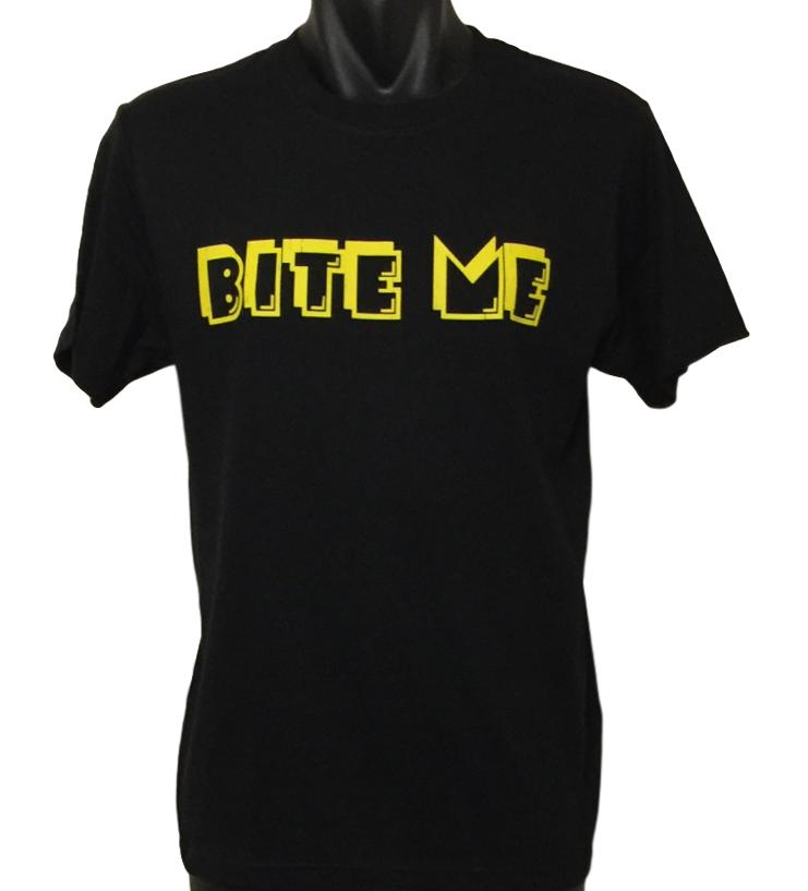 Bite Me Retro Gaming T-Shirt (Regular and Big Sizes)