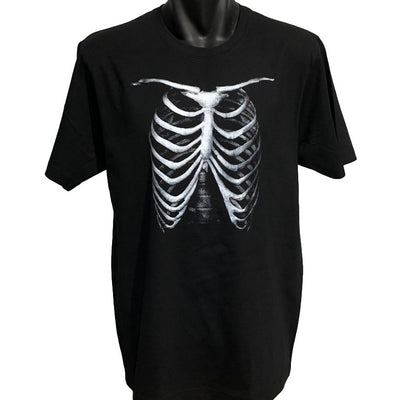 Rib Cage T-Shirt (Black, Regular and Big Sizes)