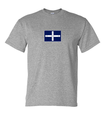 Eureka Flag Logo T-Shirt (Marle Grey, Regular and Big Sizes)