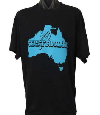 Australian Kookaburra T-Shirt (Black, Regular and Big Sizes)
