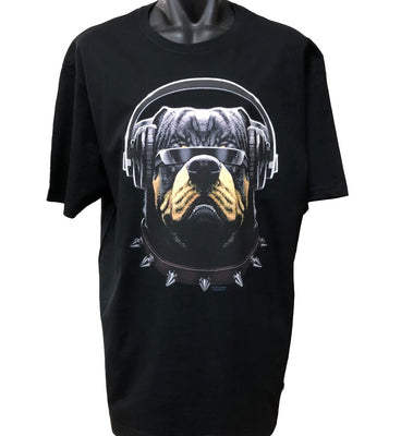 Rottweiler DJ Cool Customer T-Shirt (Black, Regular and Big Sizes)