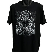 Egyptian Skull T-Shirt (Black, Regular and Big Sizes)