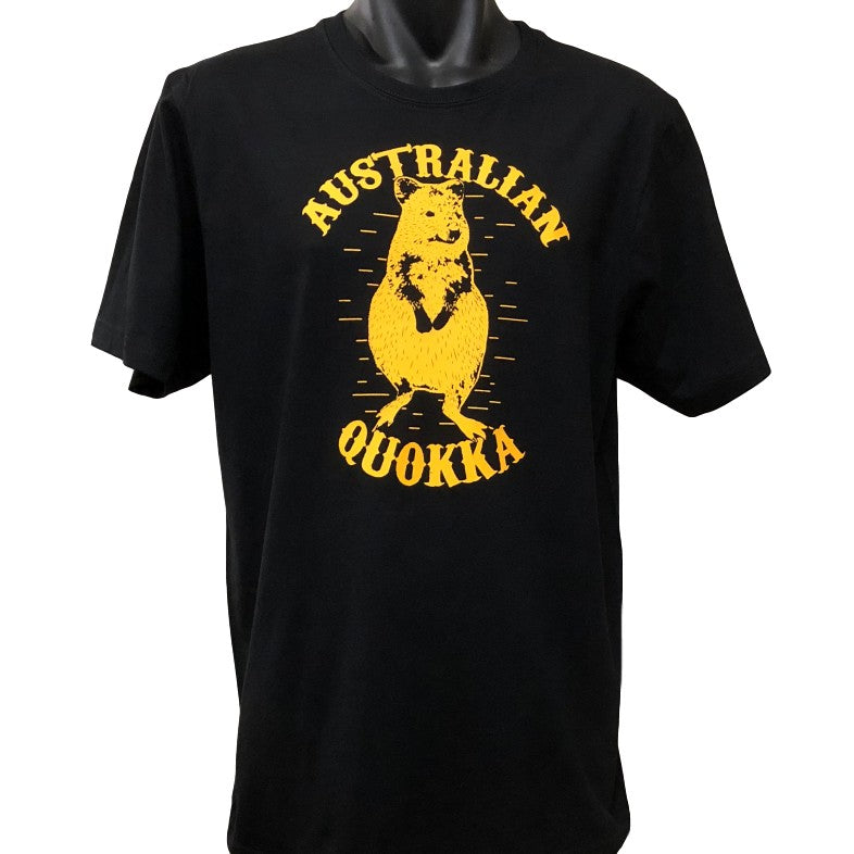 Australian Quokka T-Shirt (Black, Regular and Big Sizes)