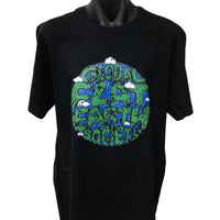 Global Flat Earth Society T-Shirt (Black)