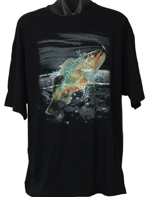 Walleye Wilderness Fishing T-Shirt (Regular and Big Sizes)