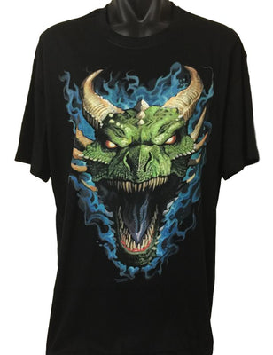 Dragon Head Roar T-Shirt (Regular and Big Sizes)