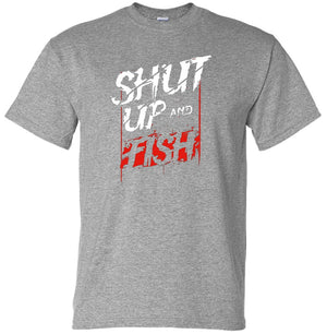 Shut Up & Fish T-Shirt (Marle Grey, Regular and Big Sizes)