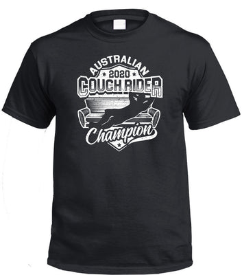 Australian Couch Rider Champion 2020 T-Shirt (Black)