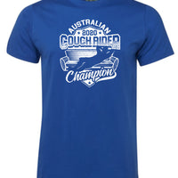 Australian Couch Rider Champion 2020 T-Shirt (Royal Blue)