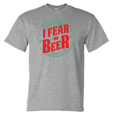 Aussie Beer Drinkers I Fear No Beer T-Shirt (Marle Grey)