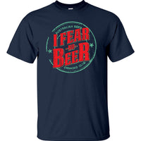 Aussie Beer Drinkers I Fear No Beer T-Shirt (Navy Blue)
