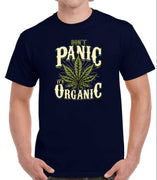 Don't Panic, It's Organic Pot T-Shirt (Navy)