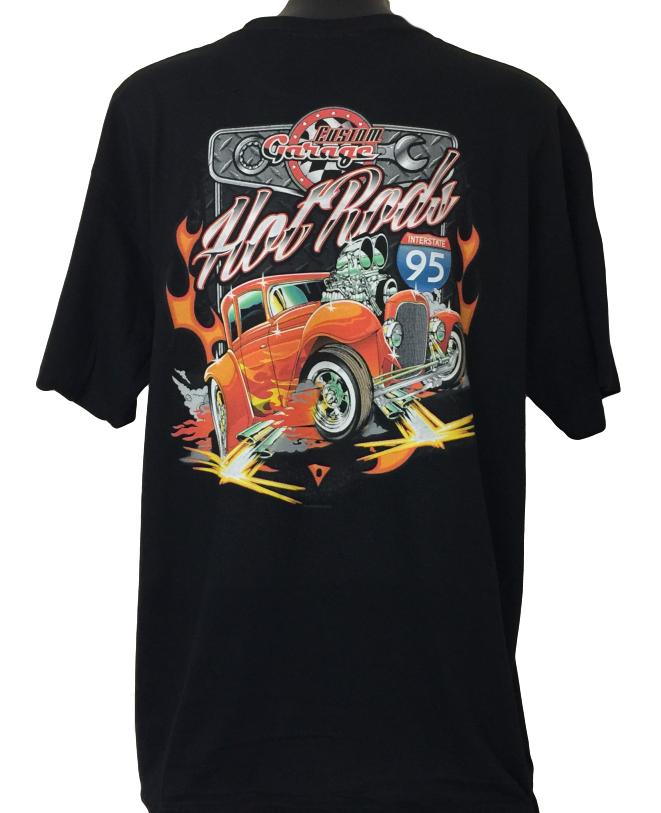 Custom Hot Rod Garage T-Shirt (Back Print)
