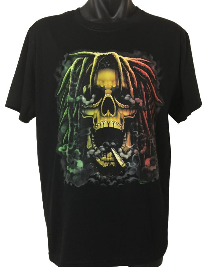 Rastafarian Skull T-Shirt (Regular and Big Sizes)