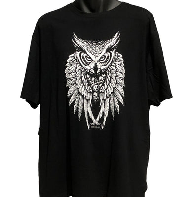 Skull Keeper Owl T-Shirt (Black)