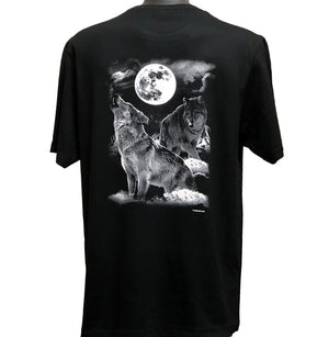 Night Wolves T-Shirt (Back Print)