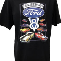 Genuine Ford Parts T-Shirt (Black, Regular and Big Sizes)