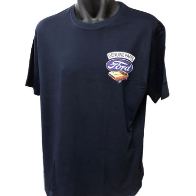 Genuine Ford Parts Small Logo T-Shirt (Navy, Regular and Big Sizes)
