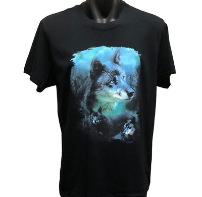Blue Wolf T-Shirt (Regular and Big Sizes)
