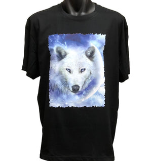 White Wolf Moon T-Shirt (Regular and Big Sizes)